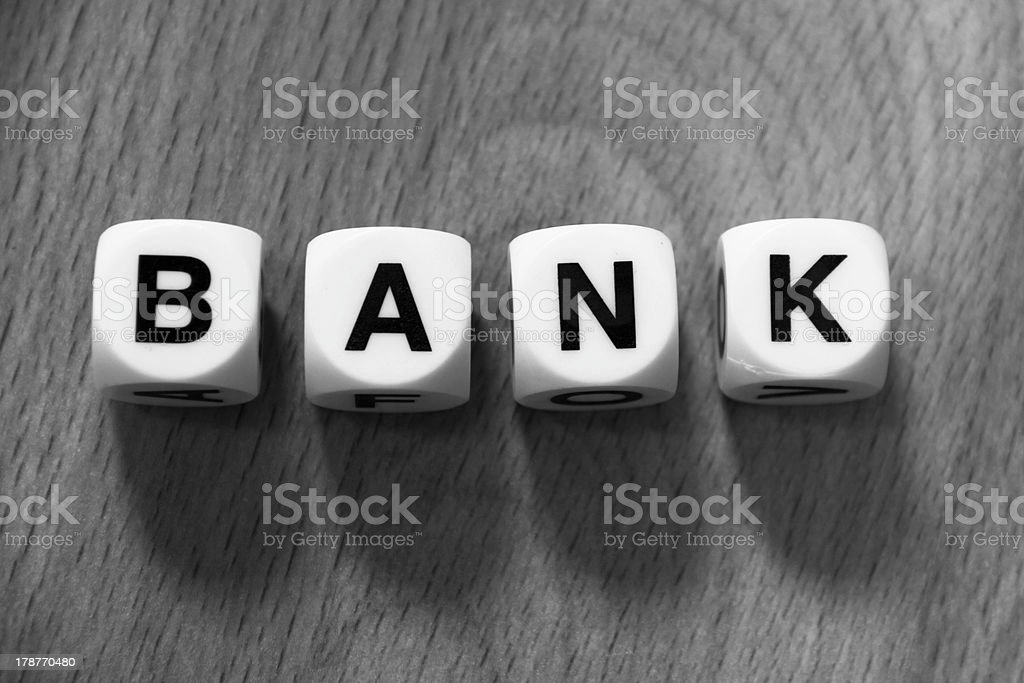 Word bank royalty-free stock photo