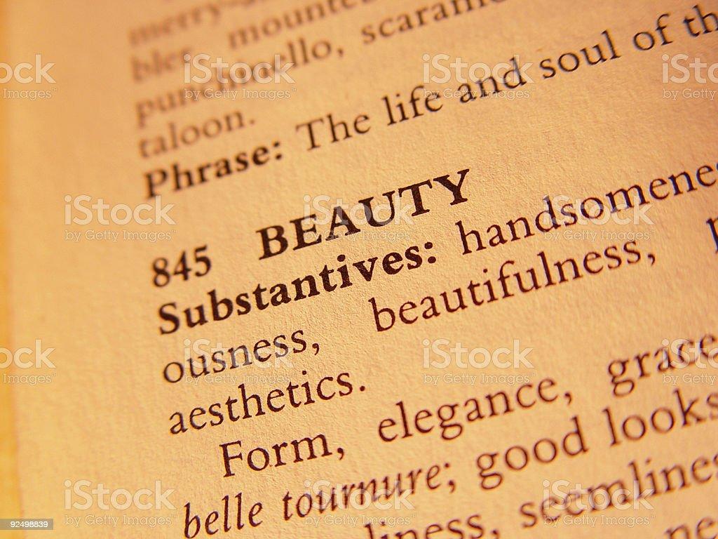 Word - beauty royalty-free stock photo