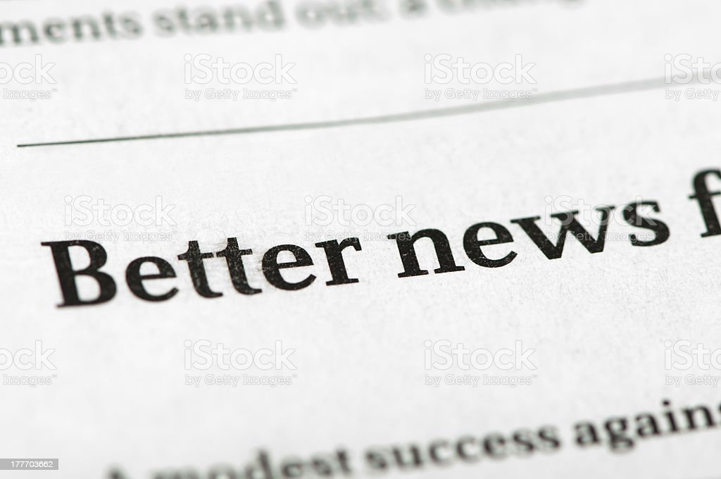 Word Better News royalty-free stock photo