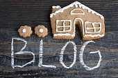 Word Blog with Gingerbread  House