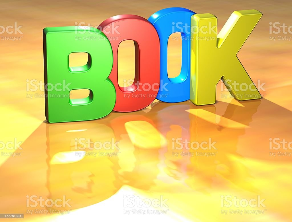 Word Book on yellow background royalty-free stock photo