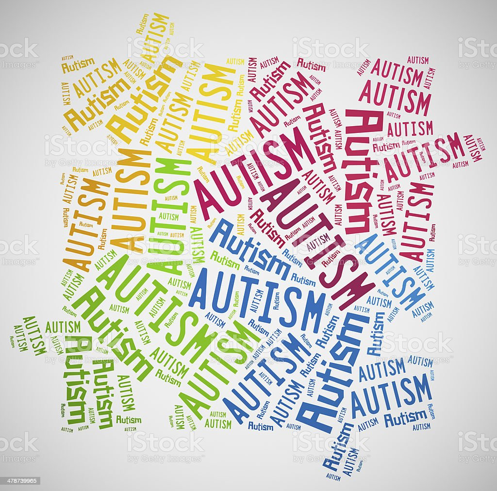 Word cloud Autism Awareness related stock photo
