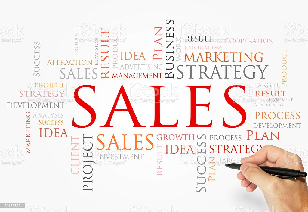 SALES word cloud, business concept stock photo