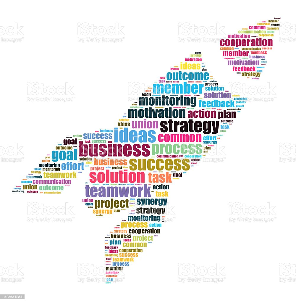 Word cloud business theme stock photo