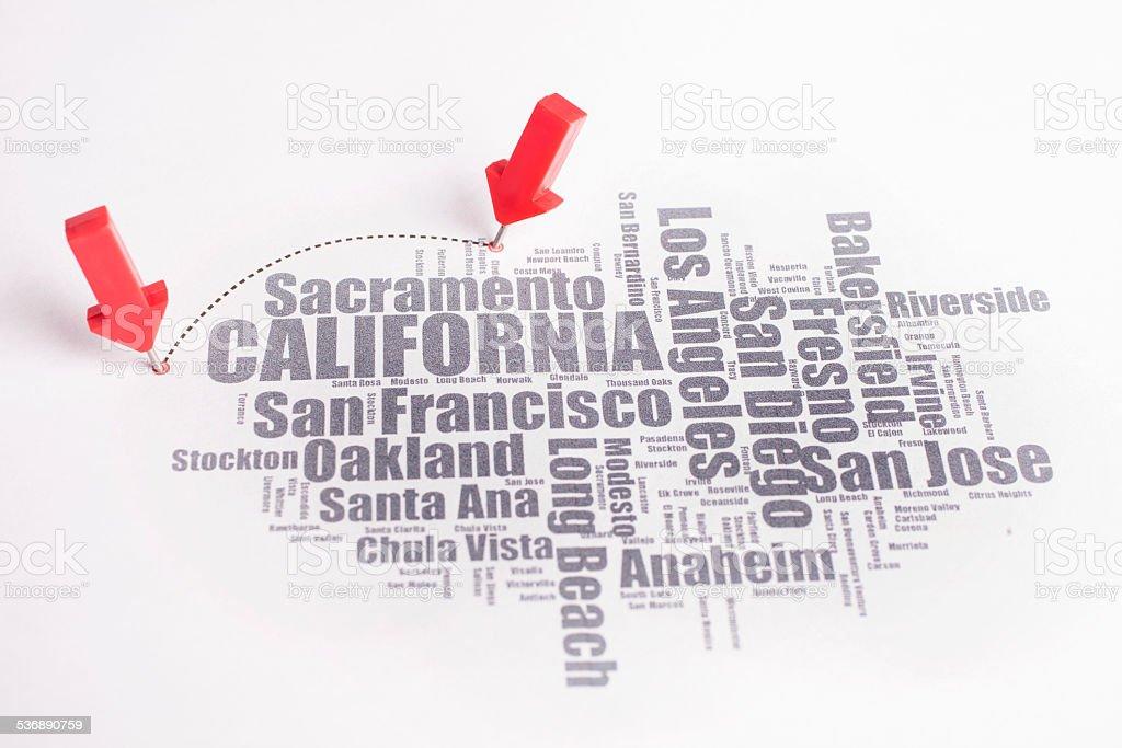 Word cloud California stock photo