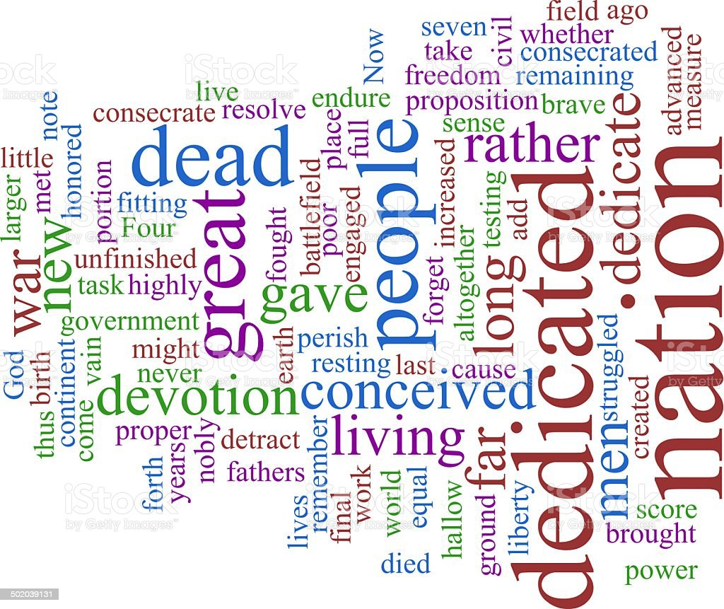 Word cloud - Lincoln stock photo