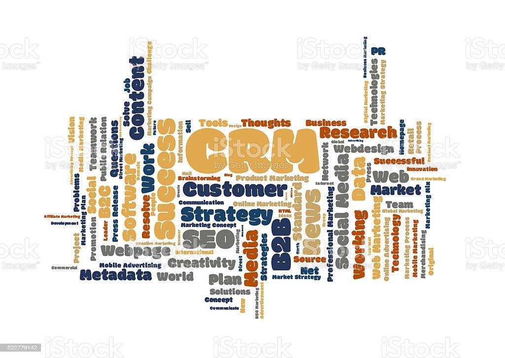 CRM word Cloud stock photo