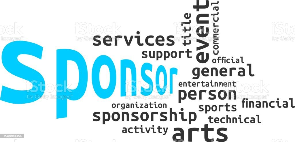 word cloud - sponsor stock photo