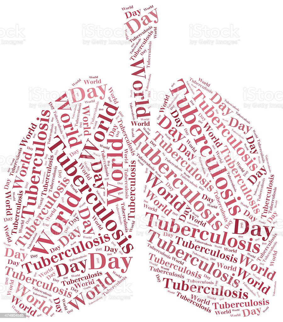 Word cloud World Tuberculosis Day related. stock photo