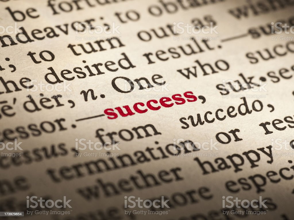 Word definition successful royalty-free stock photo