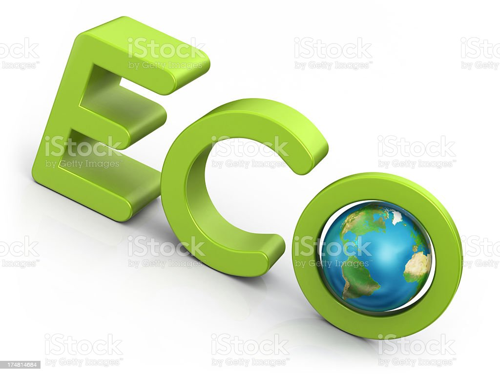 Word Eco and Earth royalty-free stock photo
