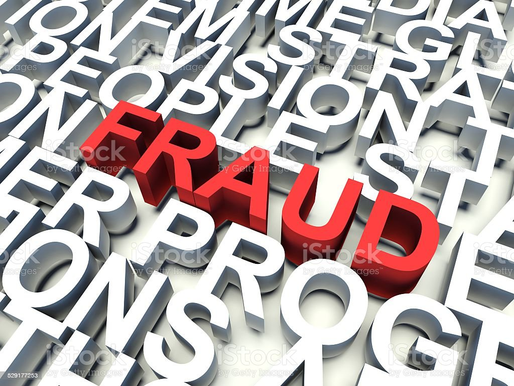 Word Fraud in red stock photo