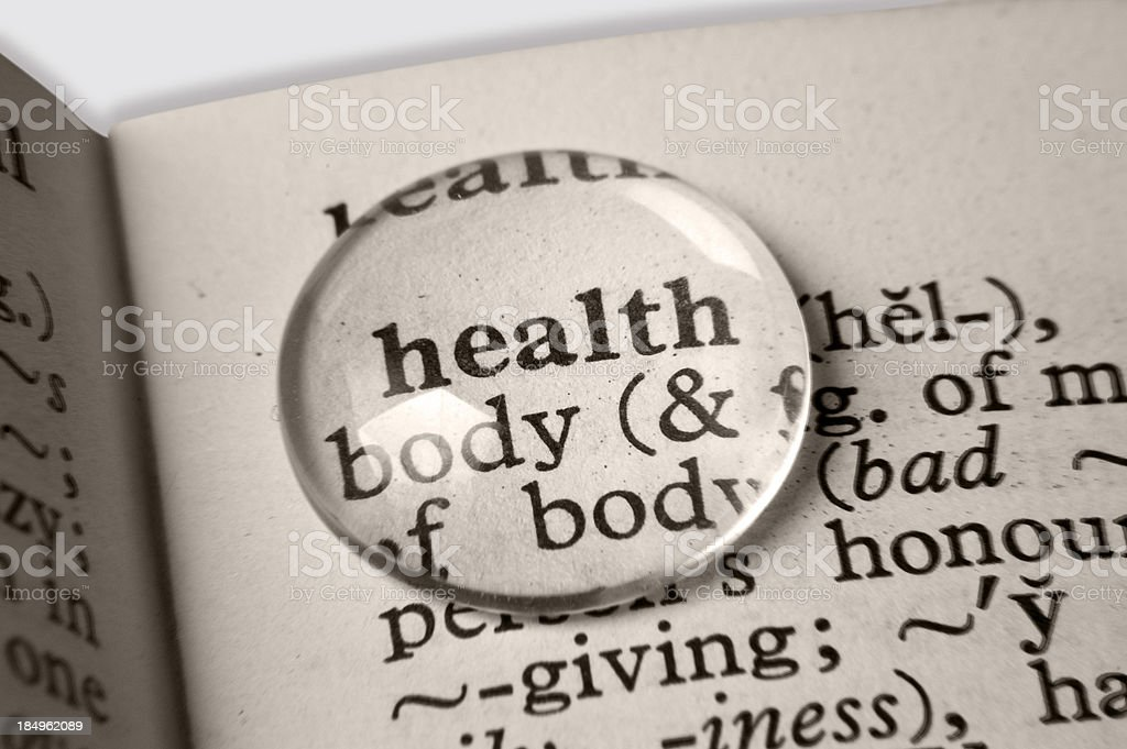 word 'Health' in the dictionary royalty-free stock photo