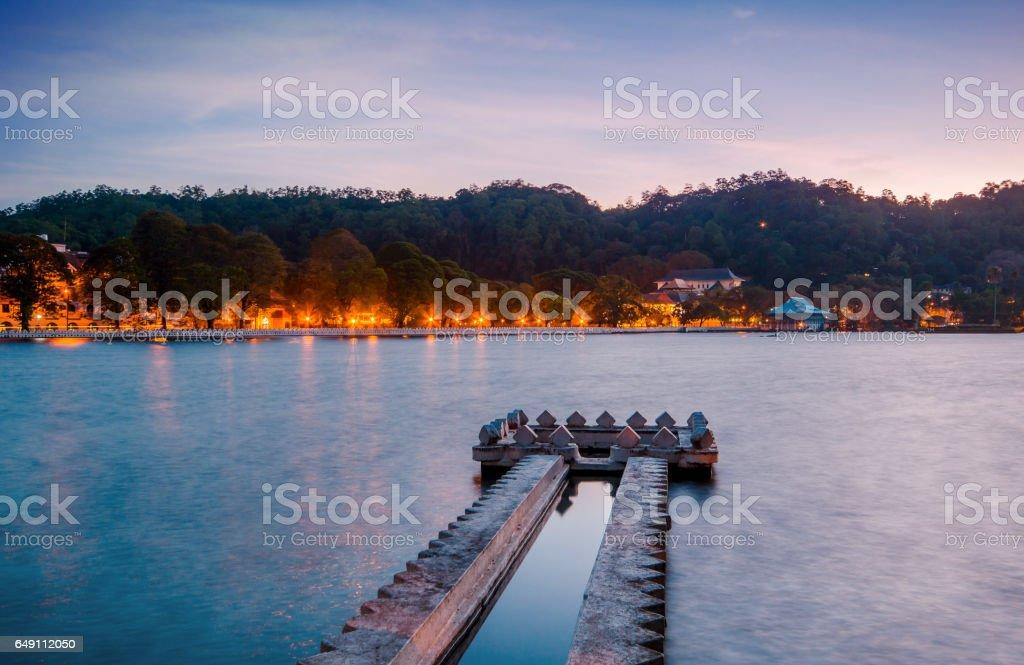 Word Heritage Kandy Cityand Lake, Sri lanka stock photo