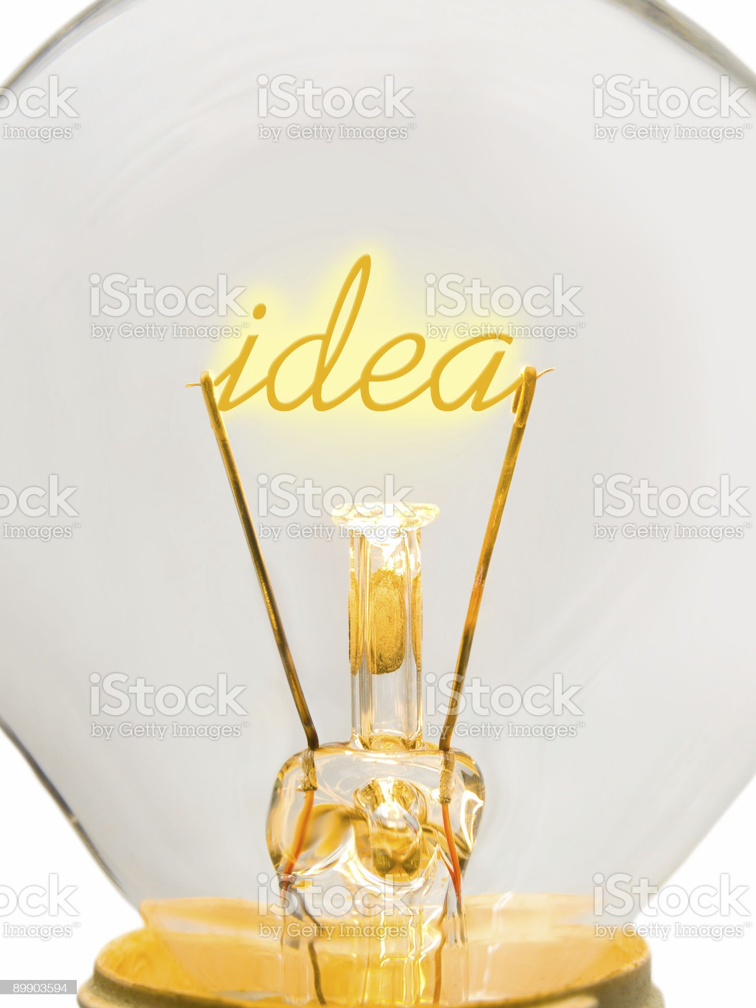 Word Idea in lamp royalty-free stock photo