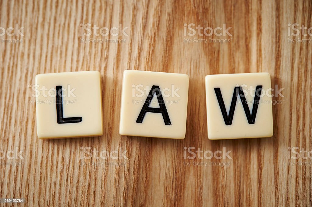 Word law stock photo