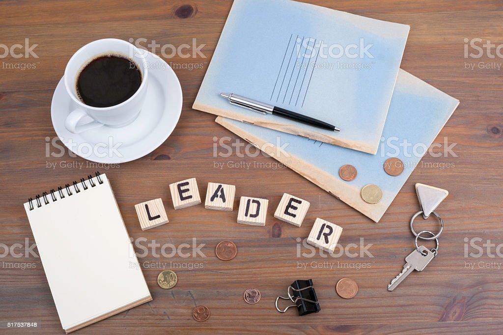 word Leader stock photo