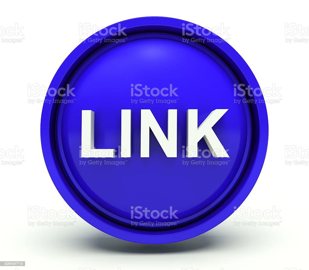 Word link. 3d render illustration. stock photo