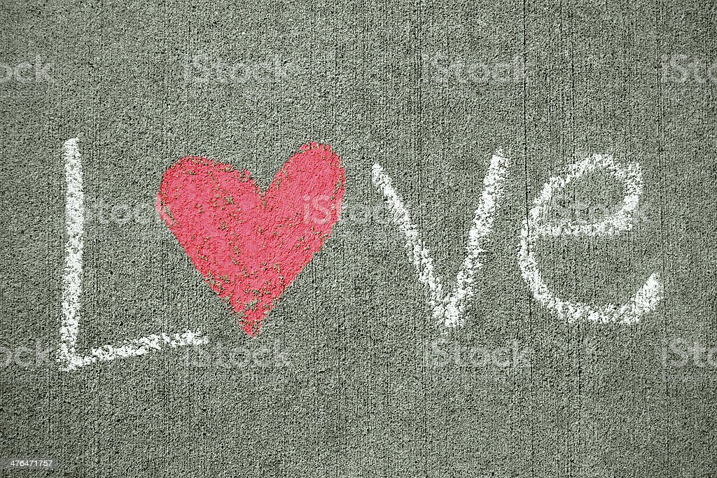 Word Love with Heart royalty-free stock photo