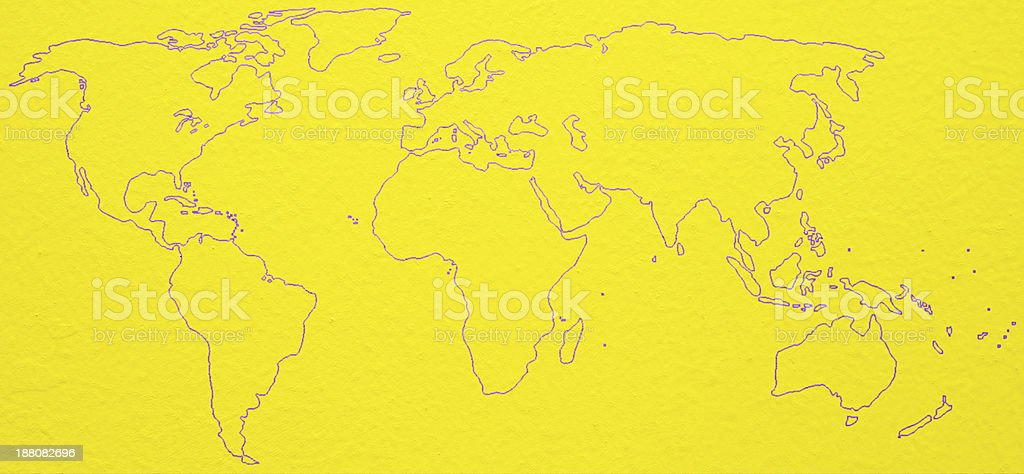 word map on the wall royalty-free stock photo