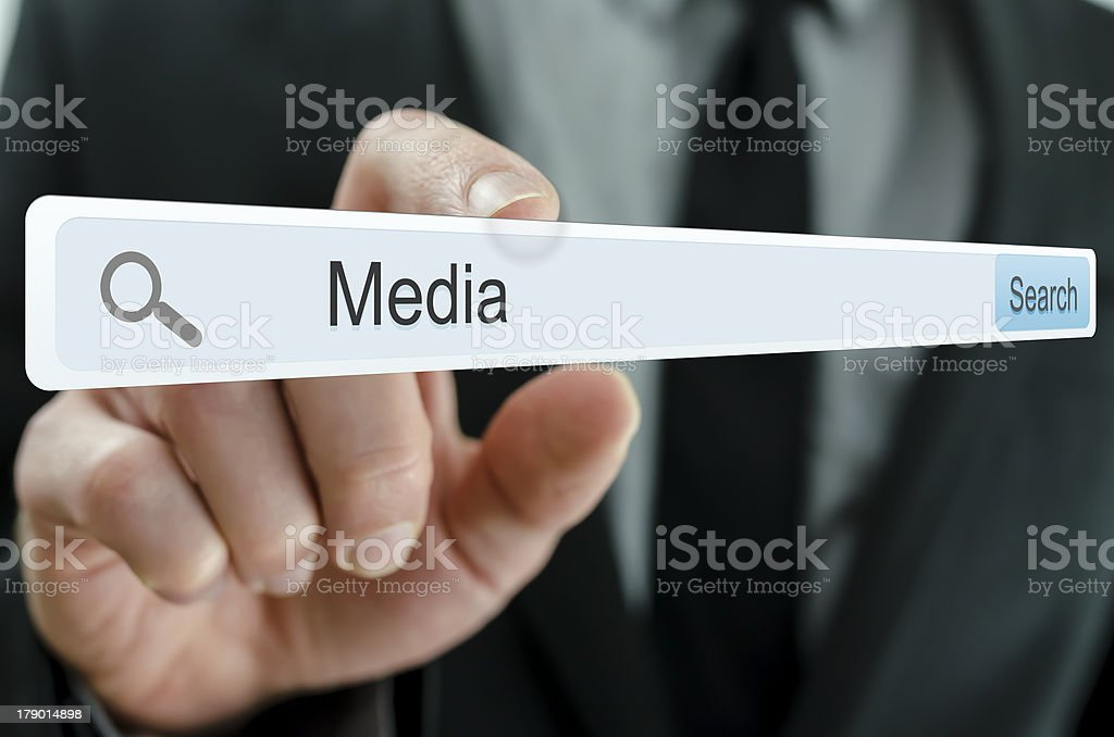 Word Media written in search bar royalty-free stock photo