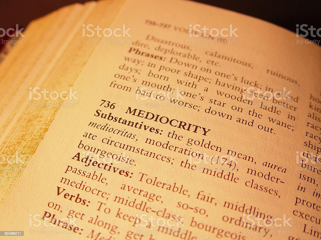 Word - mediocrity royalty-free stock photo