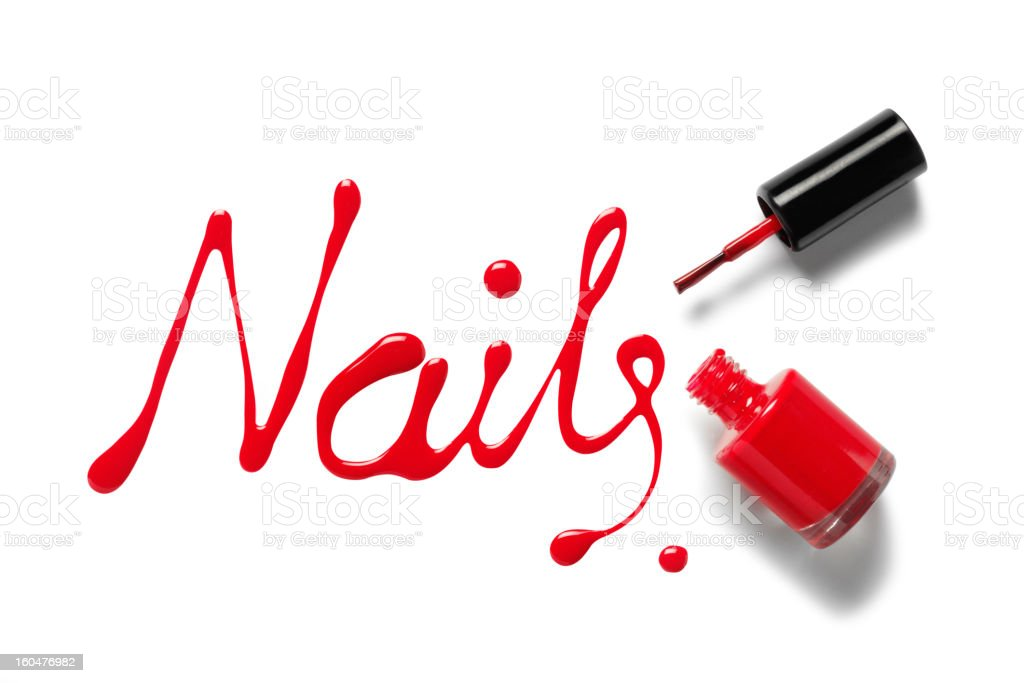 Word Nails in Varnish stock photo