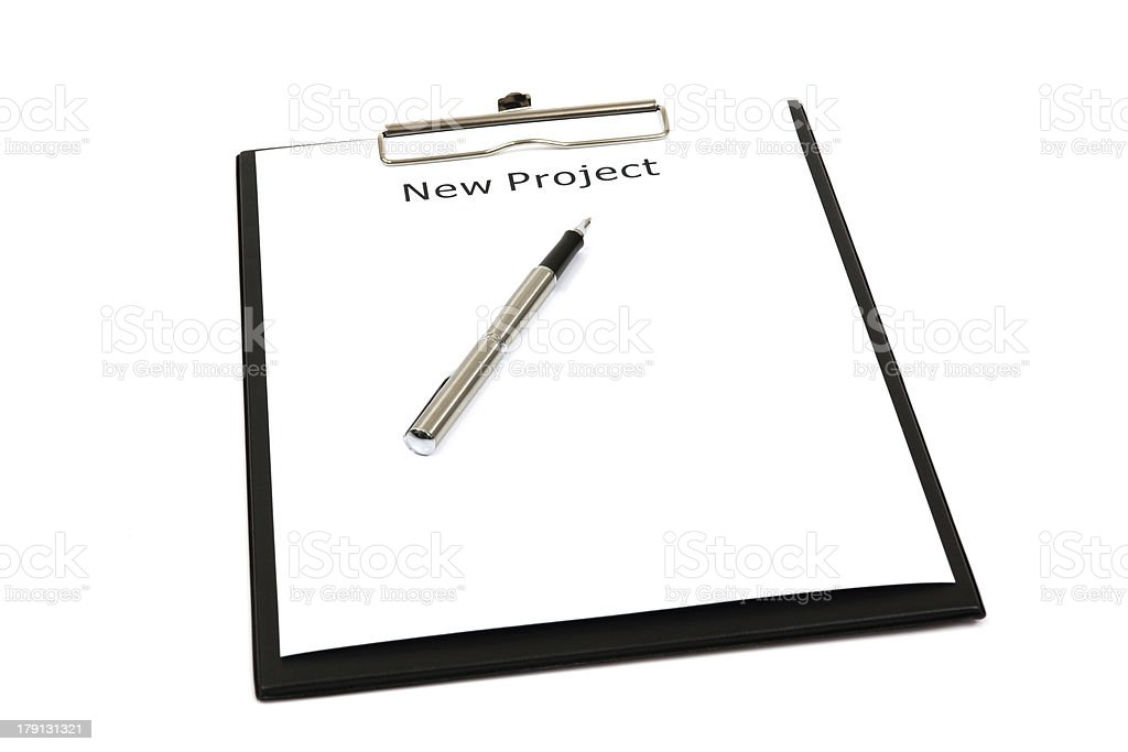 Word new projects royalty-free stock photo
