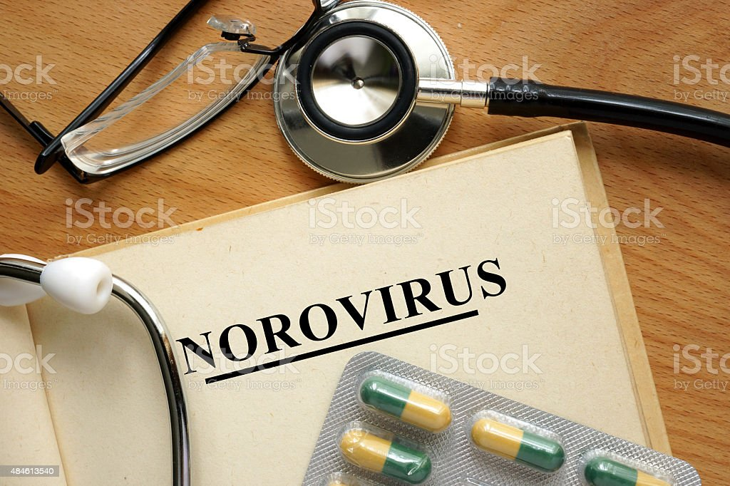Word Norovirus. Medical concept. stock photo