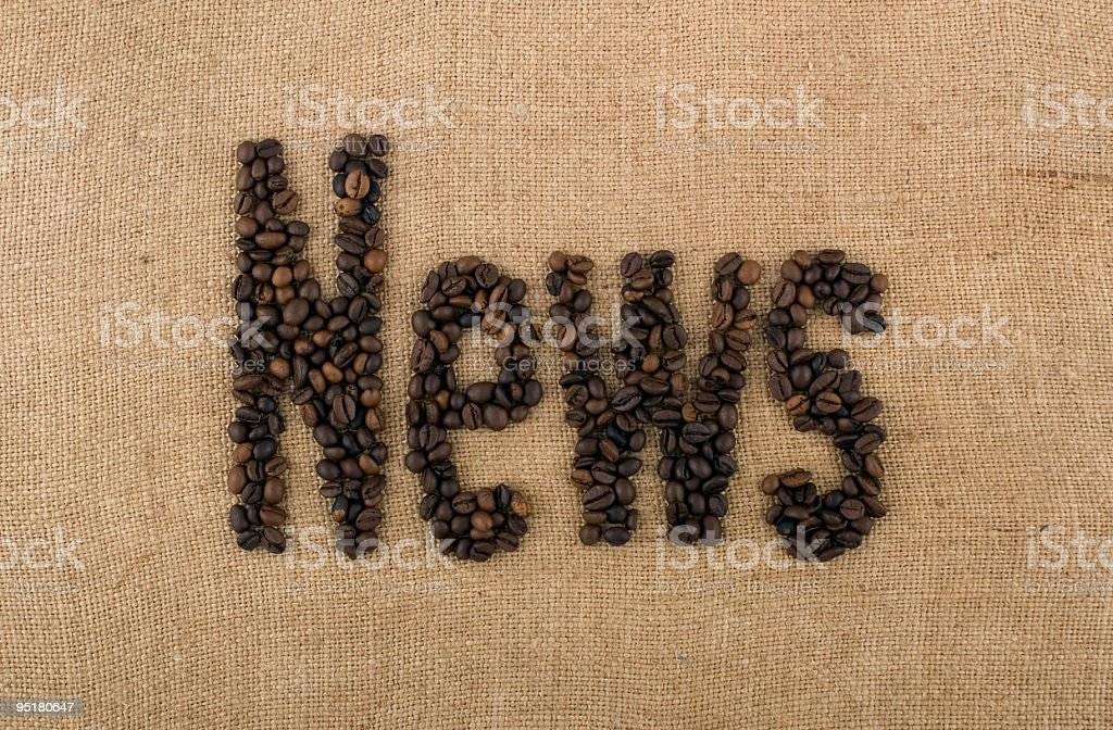 Word of beans: News royalty-free stock photo