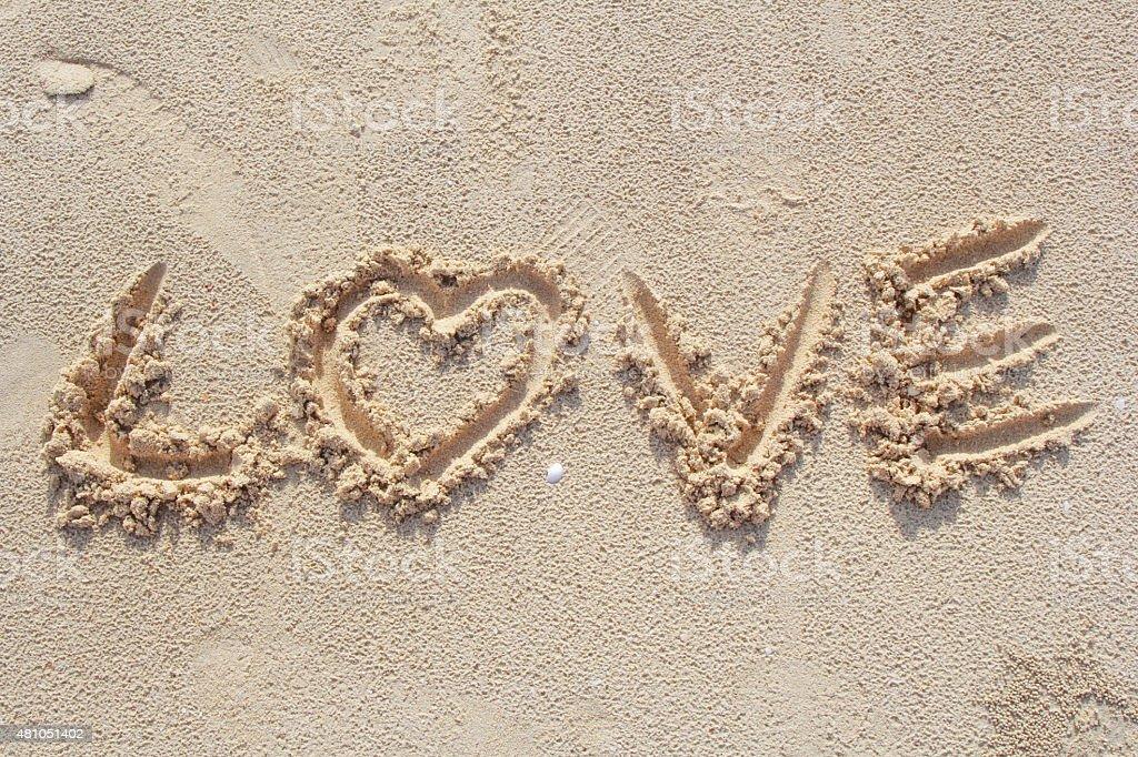 Word of love. stock photo