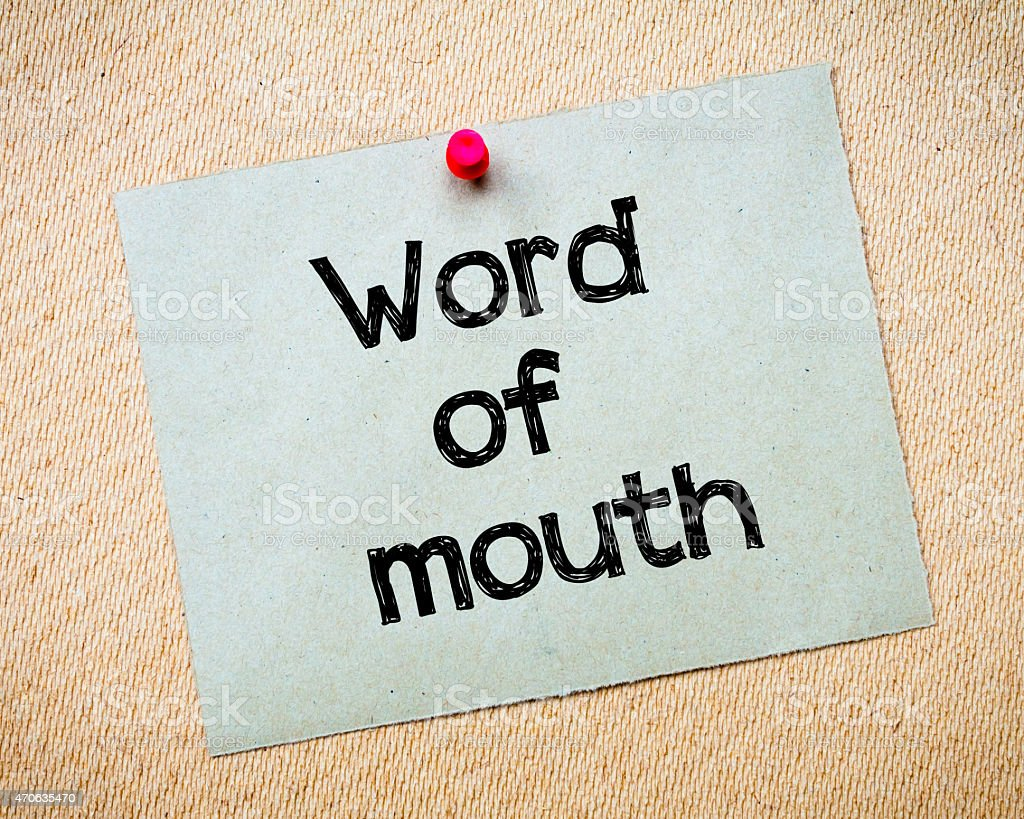Word of mouth stock photo