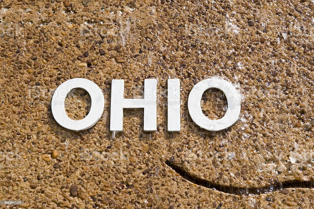 Word OHIO in Water royalty-free stock photo