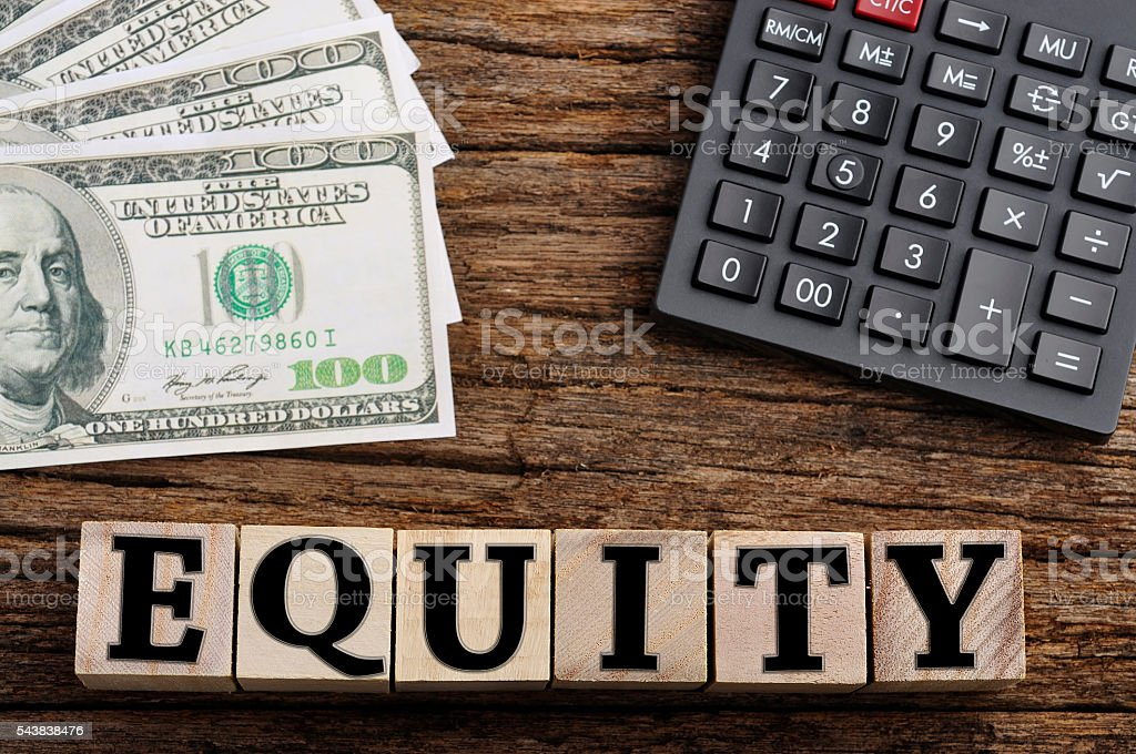 Equity Word On Cube Finance Concept Stock Photo 543838476 Istock