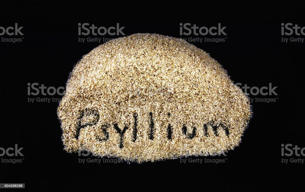 Word on daily dietary fiber supplement psyllium stock photo