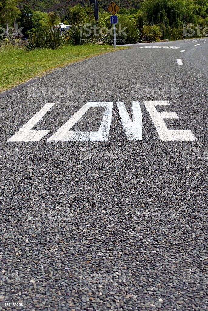 LOVE;  Word on the Street royalty-free stock photo