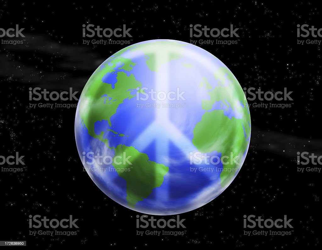 Word Peace 2 royalty-free stock photo