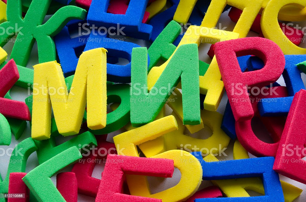 word peace written by Cyrillic letters stock photo