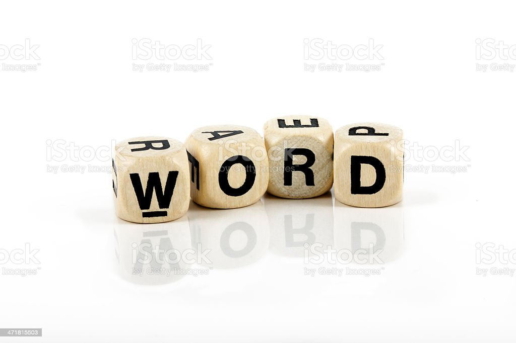 Word royalty-free stock photo