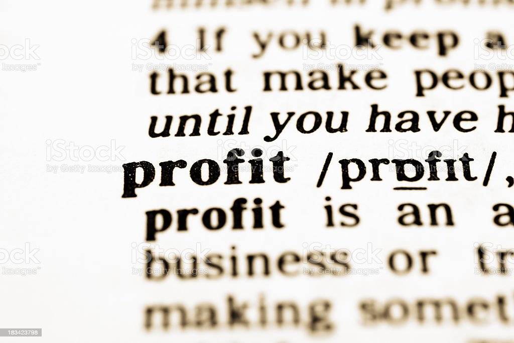 Word profit in the dictionary royalty-free stock photo