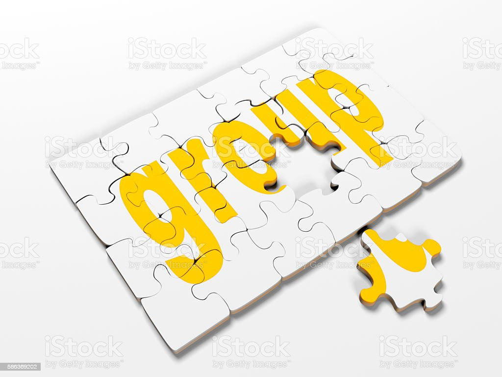 word puzzles pertaining to the business on a white background stock photo