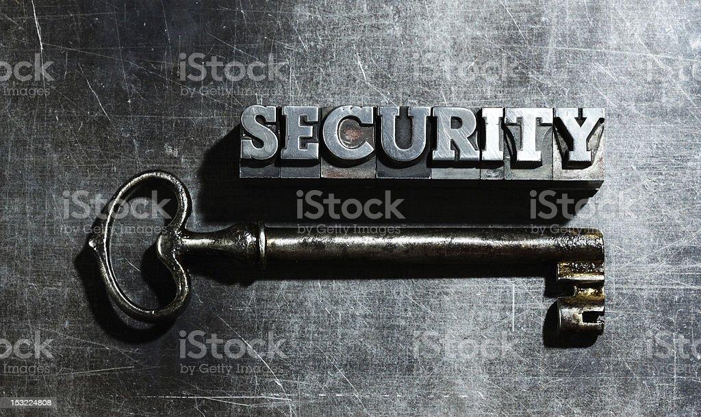 Mot «sécurité» photo libre de droits