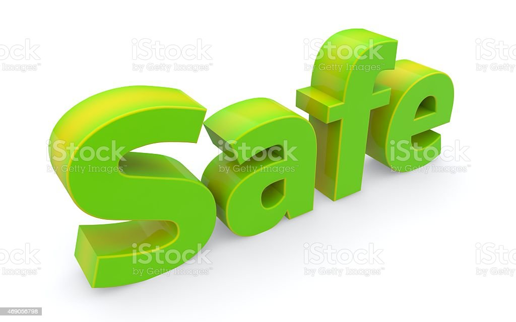 Word safe icon on a white background. 3D illustration. stock photo