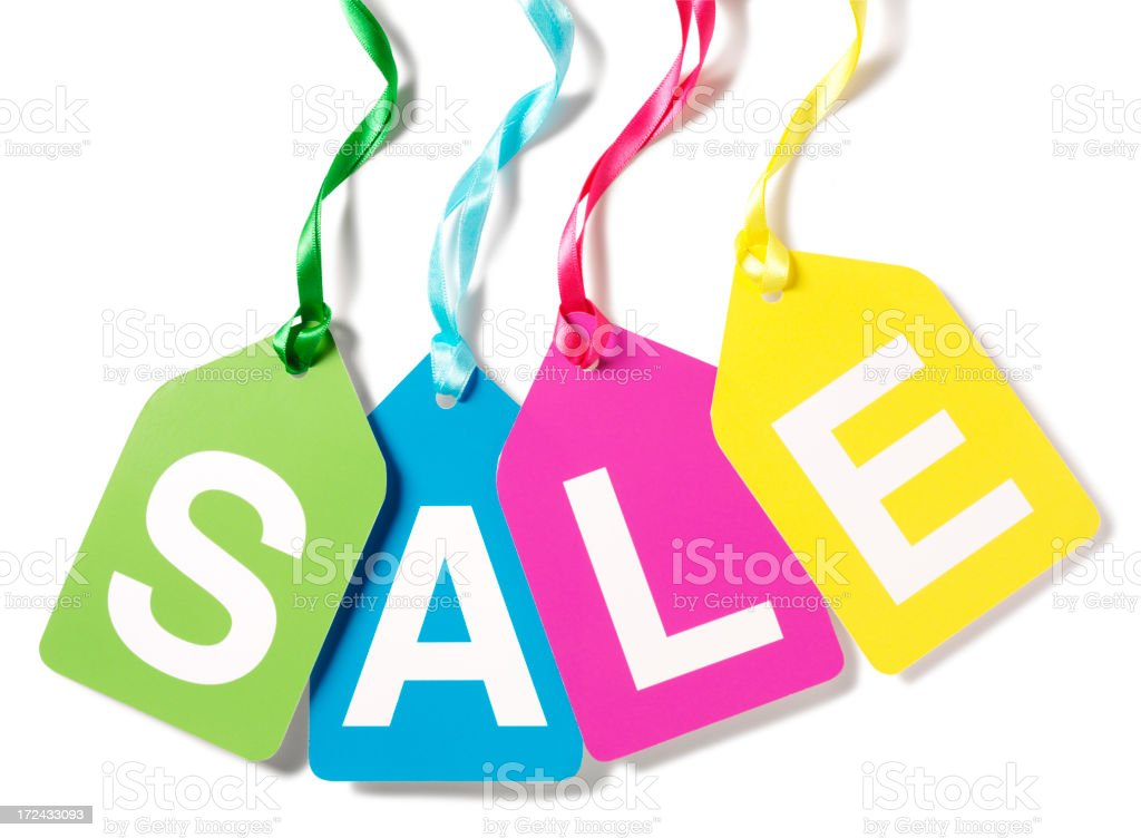 Word Sale in Multi Colours royalty-free stock photo