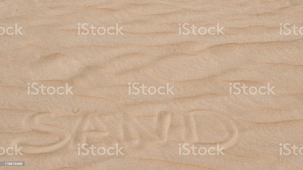 Word Sand royalty-free stock photo