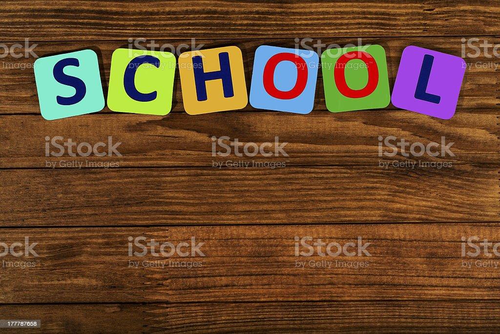 word school stock photo