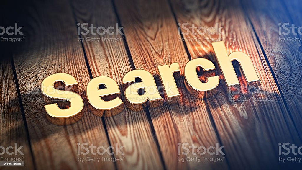 Word Search on wood planks stock photo