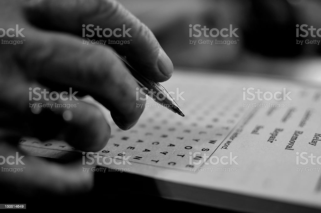 Word Search stock photo