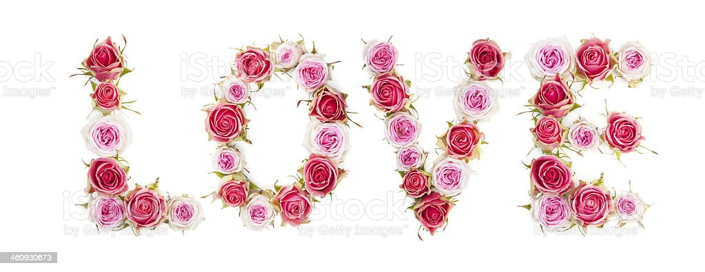 LOVE word shape royalty-free stock photo