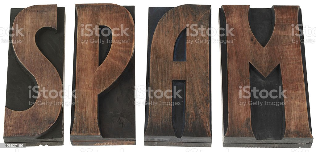 Word Spam Cutout royalty-free stock photo